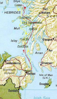 Dalle Coste Nord-Irlandesi (dove si trova Cooley) era abbastanza semplice Raggiungere Islay, Arran o Compbeltown