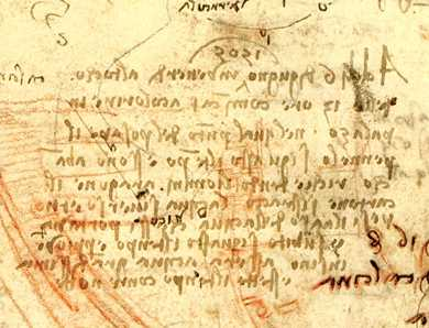 Leonardo3-Leonardo-Da-vinci-Anghiari-discover-the-real-secrets MadridII foglio 1r Anghiari foglio Particolare